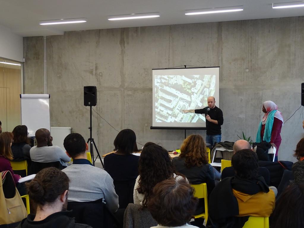 Christophe Jibard (Asmae) et Santakoulé (VEMT) lors de l'atelier du 9 décembre 2016.