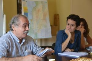 De gauche à droite, Albert et Laurence Ravinet (Coordinatrice d'Asmae au Liban) lors d'une séance de travail.